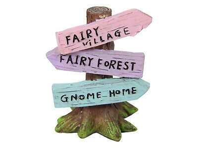 1pce 6cm Fairy Garden Sign Post Novelty Display Collectables