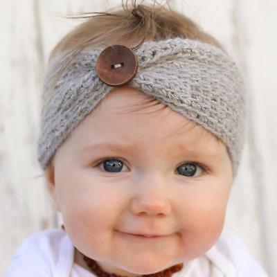 Baby girl Turban Head Wrap kids hair band wool knitted headwear Headband SIU