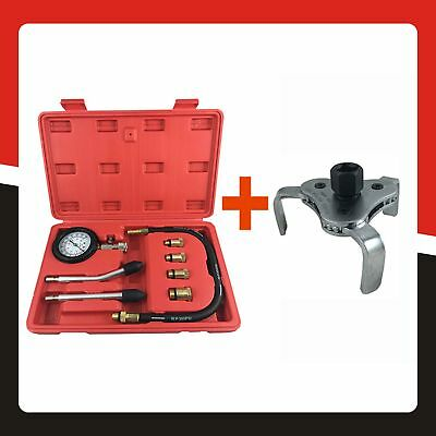 Automotive Petrol Engine Compression Tester Kit and Oil Filter Wrench