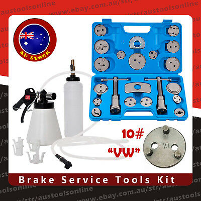 22pcs Brake Caliper Wind Back Wind Back Tool Kit + Air Brake Bleeder Oil Feeder
