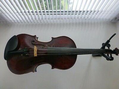 New Hand Made Violin, Antique Style Varnish, Ebony Fittings, Great Tone From Uk
