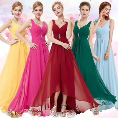 Ever-Pretty Long Chiffon Evening Formal Party Ball Gown Prom Bridesmaid Dresses