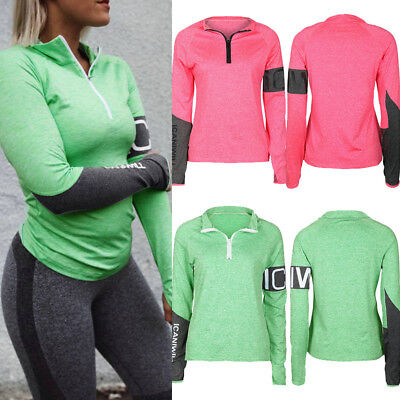 Women Gym Fitness Sport Wear Blouse Ladies Running Workout Exercise Clothes Tops
