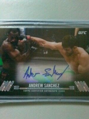 2017 Topps Ufc Knockout Andrew Sanchez Green Autograph Ka-As #24/35