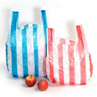Striped Carrier Bags - Various Sizes