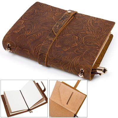 Retro Genuine Leather Refillable Journal Notebook Handmade Travelers Notepad New