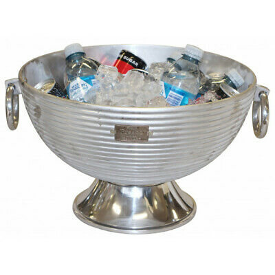 Large Hammered Stainless Steel Champagne Ice Bucket Beer Wine Water Cooler