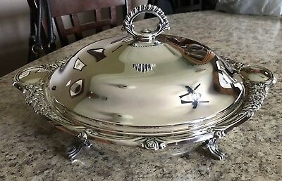 Wm. A Rogers Silver Plated Casserole Covered Serving Dish