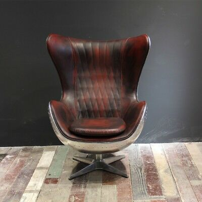 Aviation Vintage Leather Arne Jackobsen Egg Chair Canada