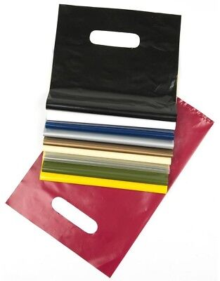 Punched Handle Carrier Bags - Various Colours