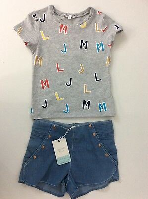 Little Marc Jacobs & Carrement Outfit, Shorts & T Shirt, Size Age 6 Years Vgc