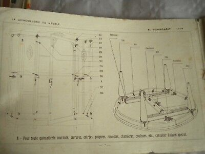 Vintage catalogue Furniture Fixings and fittings embellishments E.Bourgarit 1930