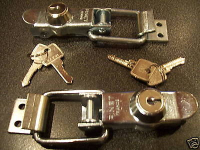 Pair Of Locking Over Centre Lock Catches, Trailer, Motorhome, Horse Box, Camper