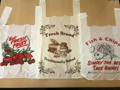 Pre-Printed Carrier Bags - Various Designs