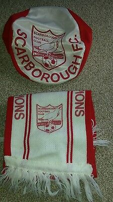 Scarborough football scarf (League Champions ) and Flat Cap
