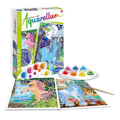 Aquarellum Painting By Numbers, Fluorescent Unicorns - Kids Art Sets