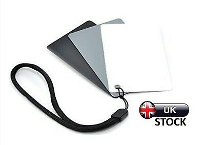 UK 18% Grey Cards Exposure Photography Digital Black White Colour Balance Camera