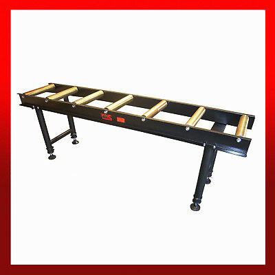wns heavy duty roller conveyor table 2 metre holds 400kg 7 rollers