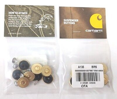 Carhartt Replacement suspender buttons 8pc per pkg [CA#1-135]  Free Ship in US