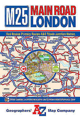 M25 Main Road Map of London by Geographers' A-Z Map Company (Sheet map,...
