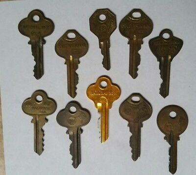 Vintage Lot of 10 Cole National Keys, Cleveland Ohio
