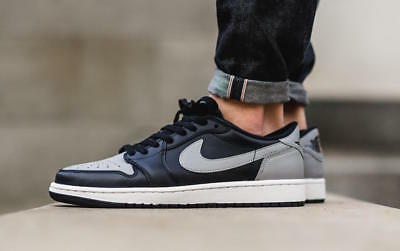 ac5d26d05262 NEW WITHOUT BOX 2015 Nike Air Jordan 1 Retro Low OG Shadow Men s 8.5 ...