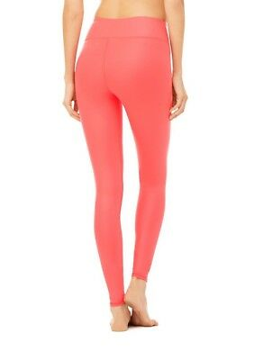 NWT Alo Yoga Women's Airbrush Active Leggings Peony Glossy Size Large Brand New