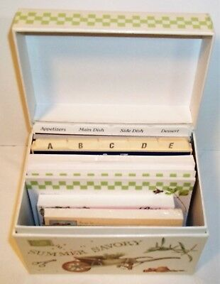 Marjolein Bastin recipe box and blank cards,  Hallmark Nature's Sketchbook set