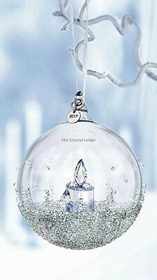 Swarovski 2017 Christmas Ball Ornament Large 5241591 Mint Boxed Retired Rare