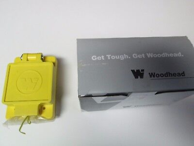 Unused DANIEL WOODHEAD 65W07 WATERTITE FLIP LID TURNEX #1301460145 Yellow