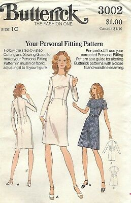 Butterick 3002 Misses'/Miss Petite Fitting Shell & Dress    Sewing Pattern