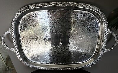 Leonard Silver Silver Plated Butlers Serving Tray