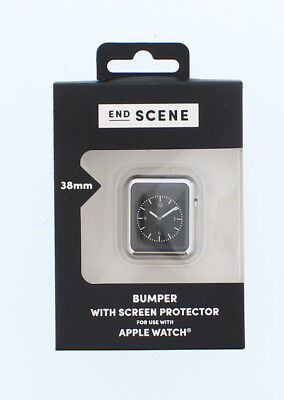 End Screen Bumper With Screen Protector For Apple Watch Appears Silver