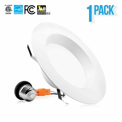 1 X 5-6 Inch Down Light 15W LED Recessed Smooth Trim Dimmable Retrofit Can