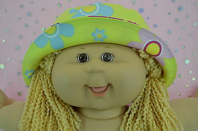 "Play n Wear Doll Clothes To Fit 16"" Cabbage Patch YELLOW/FLOWER DRILL SUN HAT"