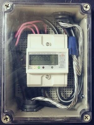Combo Single phase electric KWh meter pulse and RS485 Internal CT plus enclosure