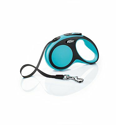 Flexi Comfort Retractable 16 ft  Leash Large Black/Blue up to 132 lbs -Brand New