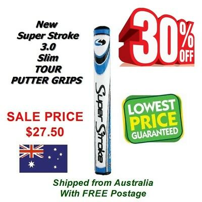 "NEW SuperStroke Tour Putter Grip  Blue 3.0 Slim.""With Fitting Instructions"""
