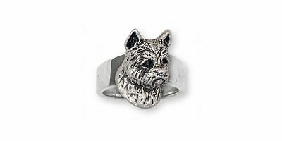 Norwich Terrier Ring Jewelry Sterling Silver Handmade Dog Ring NT4-R