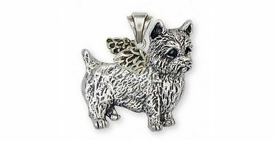 Norwich Terrier Angel Pendant Jewelry Sterling Silver Handmade Dog Pendant NT3-A