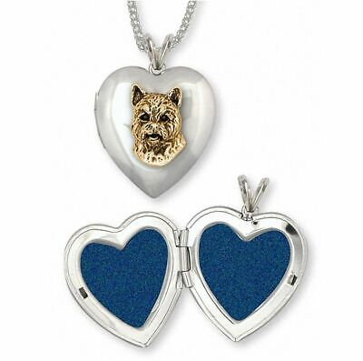 Norwich Terrier Photo Locket Jewelry Silver And Gold Handmade Dog Photo Locket N