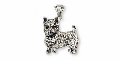 Norwich Terrier Pendant Jewelry Sterling Silver Handmade Dog Pendant NT1-P