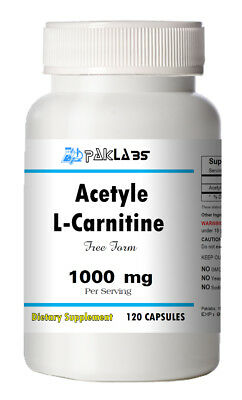 Acetyle L-Carnitine 1000mg High Potency 120 Capsules Big Bottle 1000 mg