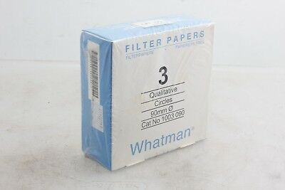 Whatman 2 Boxes of Qualitative Filter Paper 1 ea Grade 1 110 mm & 3  90 mm