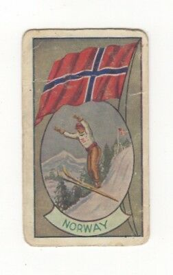 Allen's Confectionery - Sports and Flags of Nations - Norway  - Ski-ing