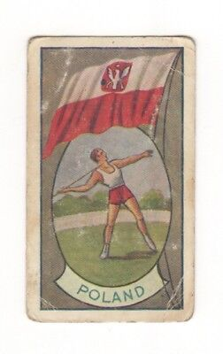 Allen's Confectionery - Sports and Flags of Nations - Poland - The Javelin