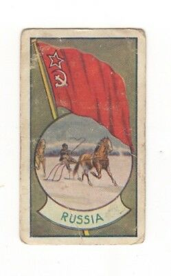 Allen's Confectionery - Sports and Flags of Nations - Russia Horse Snow Sleigh