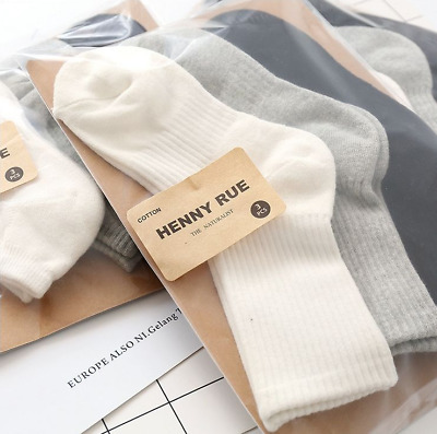 3 Pairs Men/Women 95%Cotton Thick Warm Casual Sports Solid Soft Terry Socks 7-10