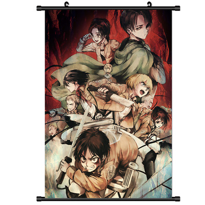 B3073 Attack On Titan anime manga Wallscroll Stoffposter 25x35cm