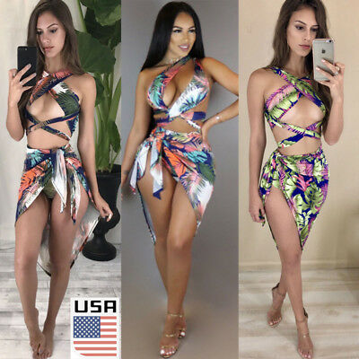 USA Women Bikini Set Bandage Push-up Padded Bra Swimsuit Bathing Suit Swimwear
